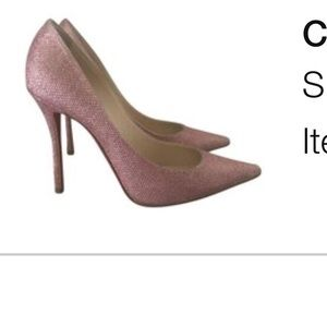 Christian Louboutin pink sparkle